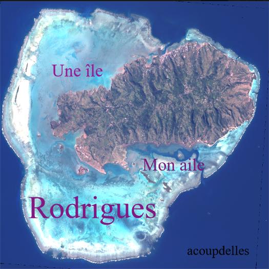 Vue de l'île Rodrigues et de son lagon