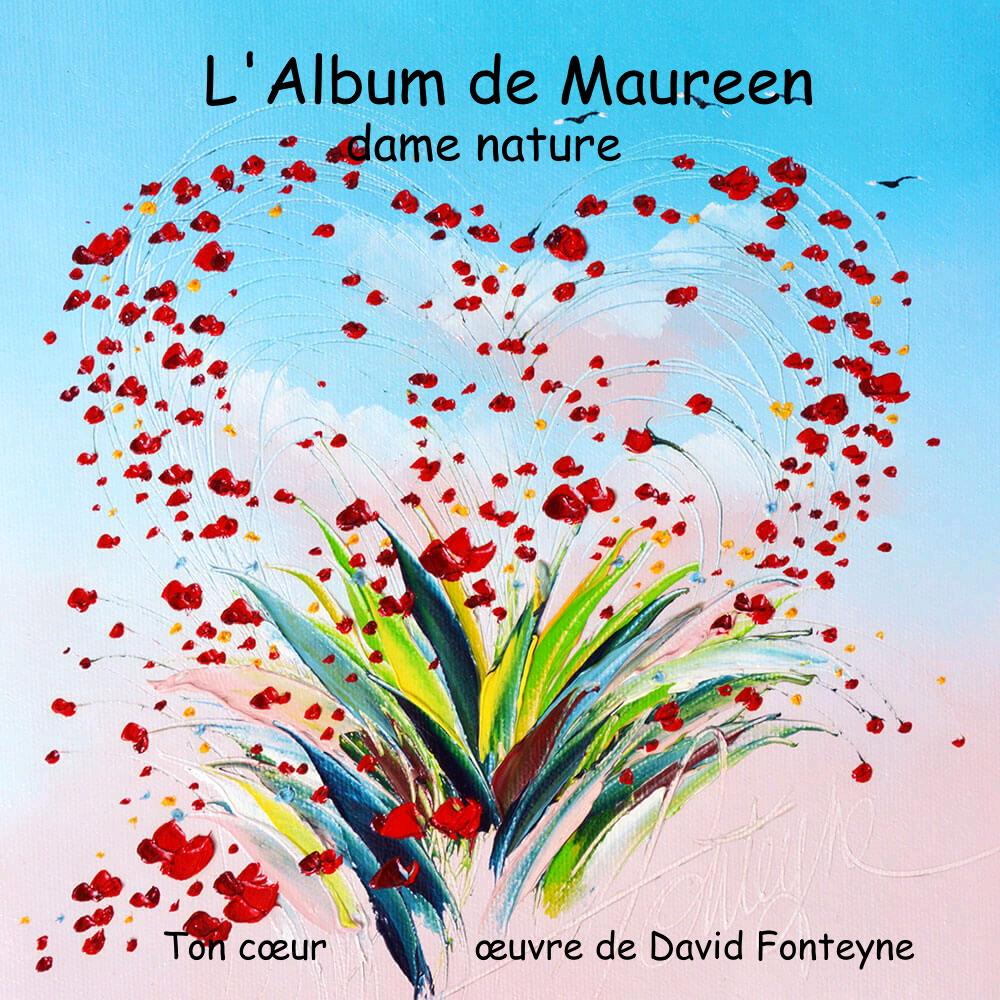 Ton cœur œuvre de David Fonteyne pour le diaporama de Maureen