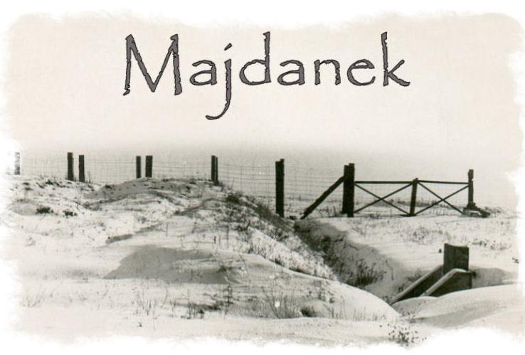 Dessin du camp de concentration de Majdanek