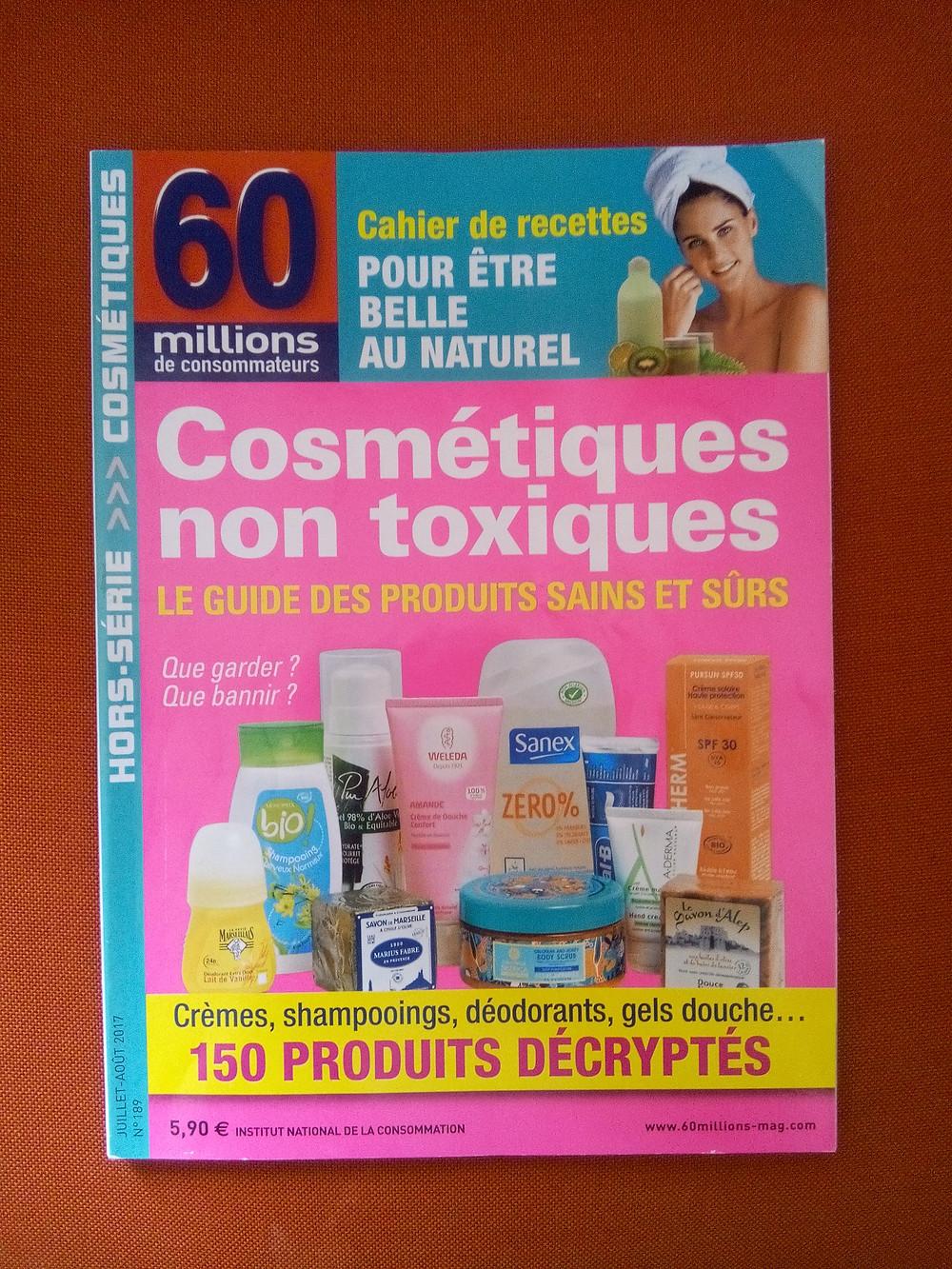 Couverture du magazine 60 millions de consommateurs hors-série: cosmétiques