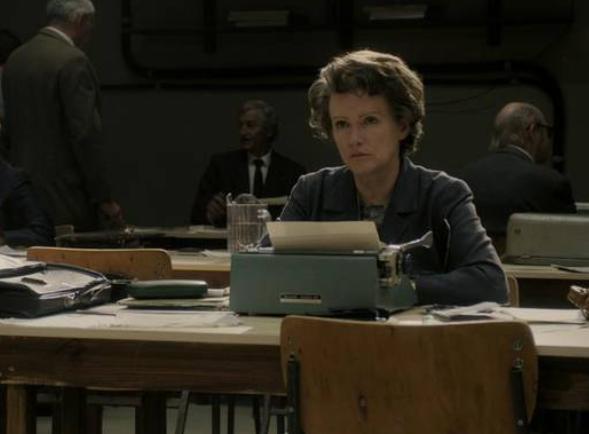 "Image du film de Margarethe von Trotta "" Hannah Arendt """