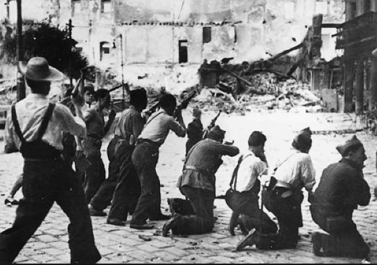 Combattants de la guerre civile d'Espagne 1936