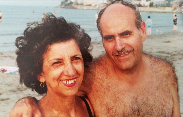 Léon et Jeanne face à la plage