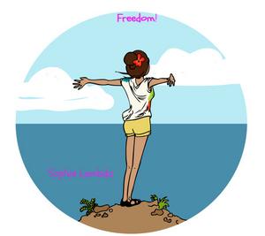 Liberté sur illustration de Sophie Lambda