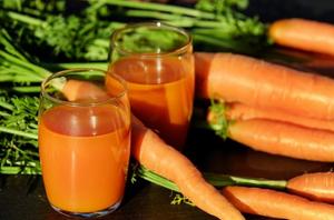 Carottes et jus de carotte