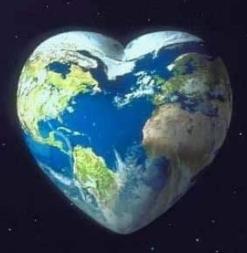 La Terre en forme de cœur