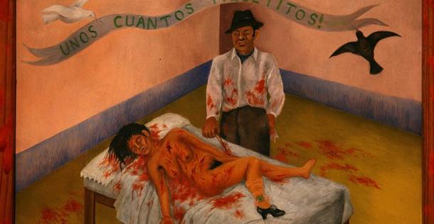 Quelques petites piqûres, tableau de Frida Kahlo