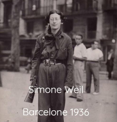 Portrait de Simone Weil à Barcelone 1936