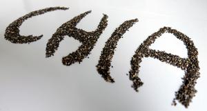 Chia écrit avec des graines de chia