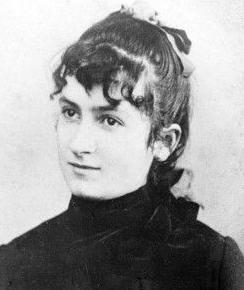 Maria Montessori portrait de la jeune femme