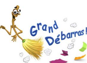 dessin humoristique d'un balai pour un Grand Débarras