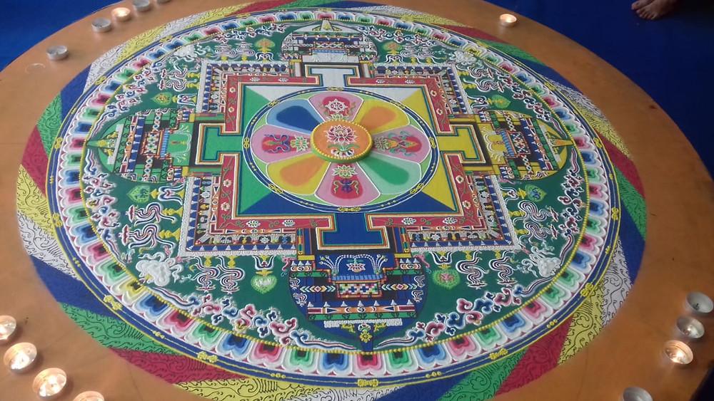 Mandala éphémère créé à La Réunion