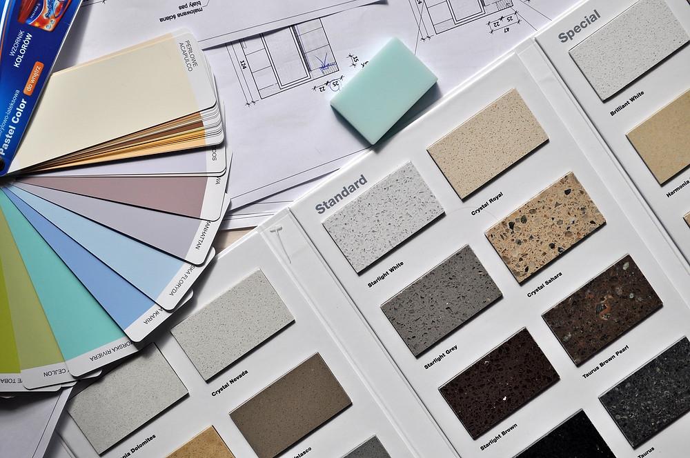 Palette de choix de couelurs pour décoration intérieur
