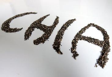 CHIA écrit en graines de chia