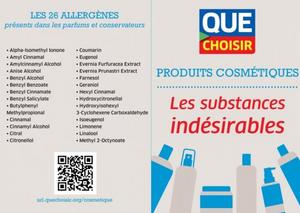 Couverture du magazine que choisir sur les produits cosmétiques et les substances indésirables