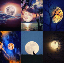 Patchwork de photos de lune