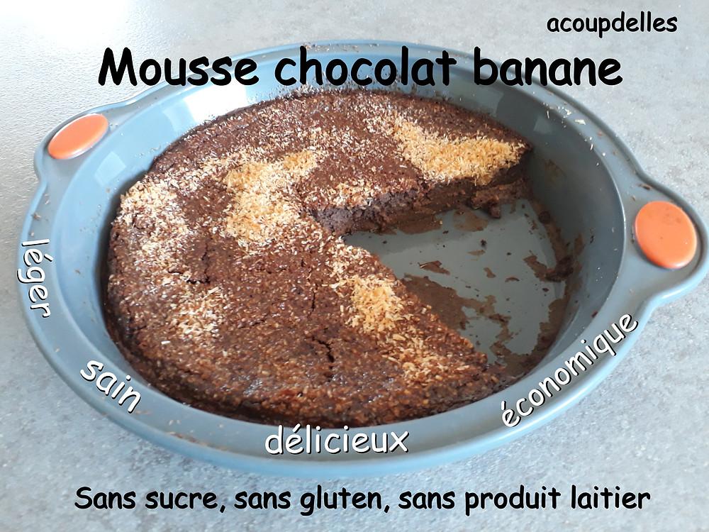 Mousse banane chocolat recette acoupdelles