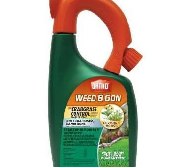 Kill Weeds, Including Crabgrass, just where they are.