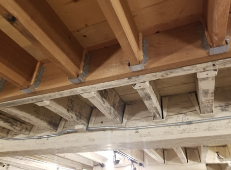 Old Joists Meet New Joists in Old Town Alexandria