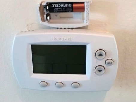 Winter is a good time to change the batteries in your thermostat...
