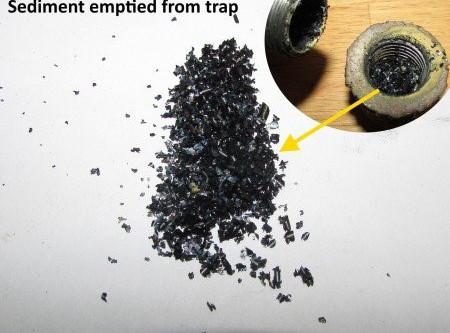 Sediment traps prevent damage to gas appliances.