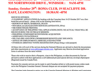 Philippine Consulate Outreach in Windsor and Leamington