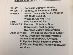 The Consular Outreach Mission