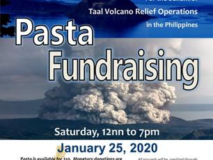 Taal Volcano Relief Pasta Fundraiser