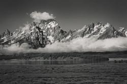 Teton Mountains B&W