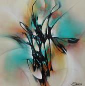 Obsidian Floral I