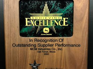 MCM Receives Outstanding Supplier Award from John Deere - Seeding Group