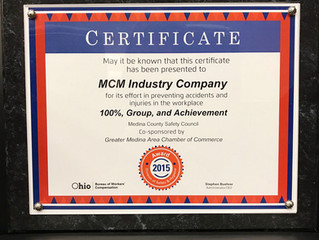 MCM Receives Safety Award for 2015