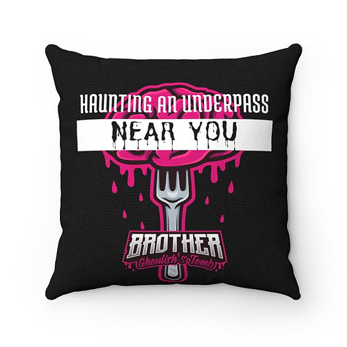 Haunting an Underpass Near You 'Brother Ghoulish's Tomb' Pillow