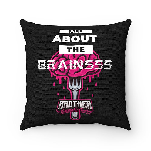All About the Brains 'Brother Ghoulish's Tomb' Pillow