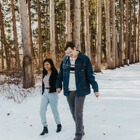 Kaitlyn & Clay - Winter Couple Session