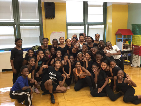 Location: East Flatbush, Brooklyn, NY  Sponsor: Ailey II; NY City Center Outreach; IS 285/The Meyer Levin School For the Performing Arts Class Type: Horton-based Modern  Age: 6th grade