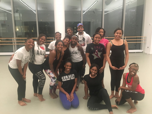 Location: NYC, NY Sponsor: Dance and BodyWorks (Upper Marlboro, Maryland); The Ailey School  Class Type: Horton Master Class Age: 10-13