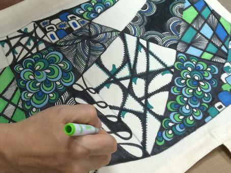 Zentangle Textiles                      Martes 28 Y Jueves 30 de marzo