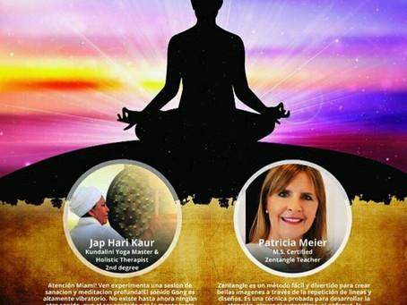 Meditación a través del sonido y Zentangles en Miami