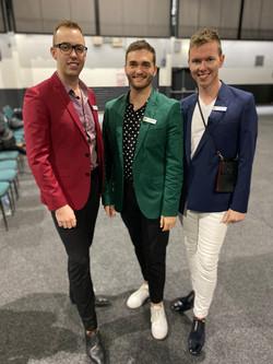 The colourful male CA crew