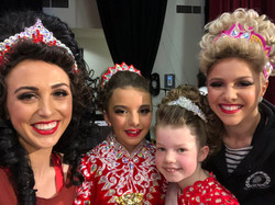 Our oldest and youngest competing dancer