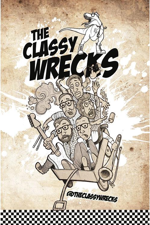 11 x 17 Classy Wrecks Wagon Poster