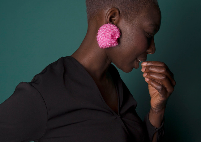 Rasberry earring