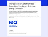 IEA encuesta a organizaciones para la Acción Urgente sobre Eficiencia Energética