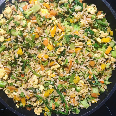 Very Veggie Egg Fried Rice