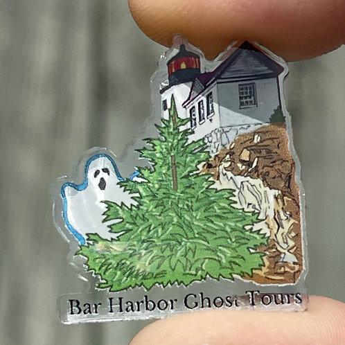 Haunted Bass Harbor Headlight Acrylic Pin