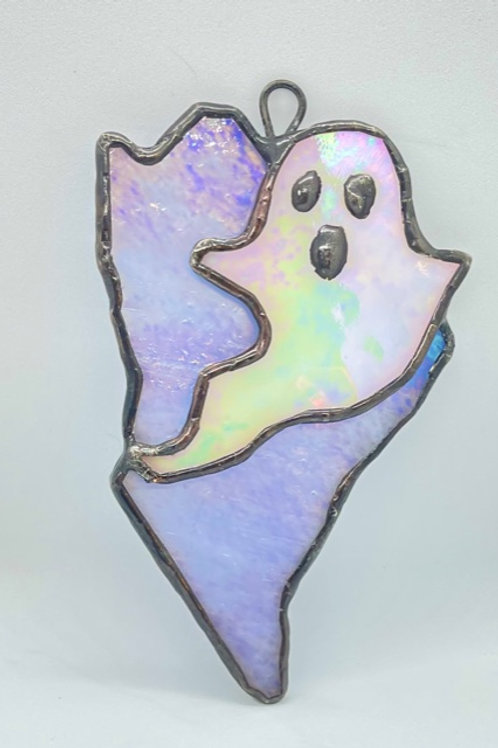 Ghostly Maine Stained Glass Ornament
