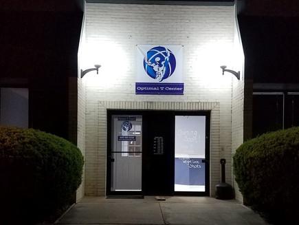 Optimal T Omaha building at night
