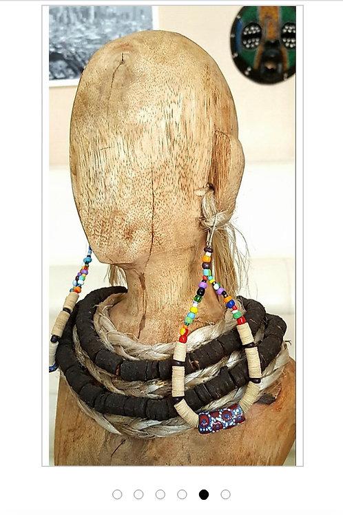 Belle's Nefertiti Krobo Bead Earrings