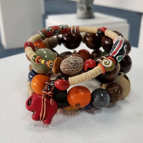 Tribal Fusion Wire Wrap Bracelet